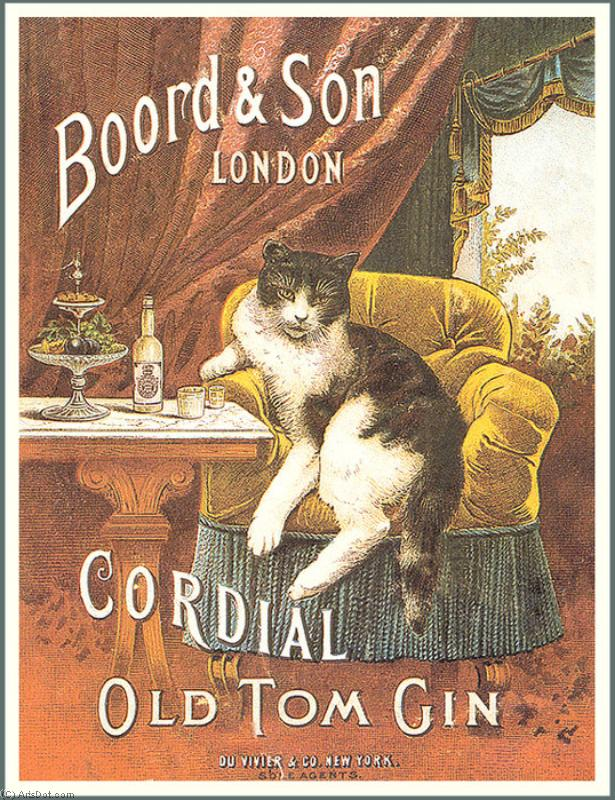 Order Poster On Canvas Vintage | Boord son london cordial old tom gin - Ads - Vintage - Uk (AC4QWA) | ArtsDot.com