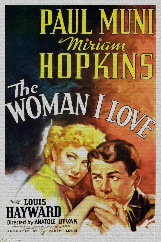 The woman i love-t - Movie Posters - Vintage - America (AC58QM) | Framed Art Vintage Movie Posters | ArtsDot.com