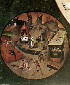 Hieronymus Bosch - The Seven Deadly Sins (detail)