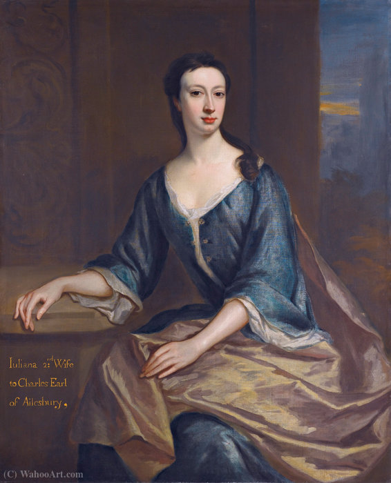 Juliana Boyle, Countess of Ailesbury by Jonathan Richardson The Elder (1667-1745) | Museum Art Reproductions | ArtsDot.com