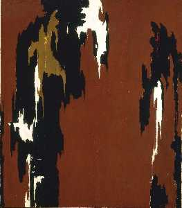 Clyfford Still - 1946 H (Indian Red and Bl..