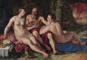 Hendrik Goltzius - Lot and his daughters