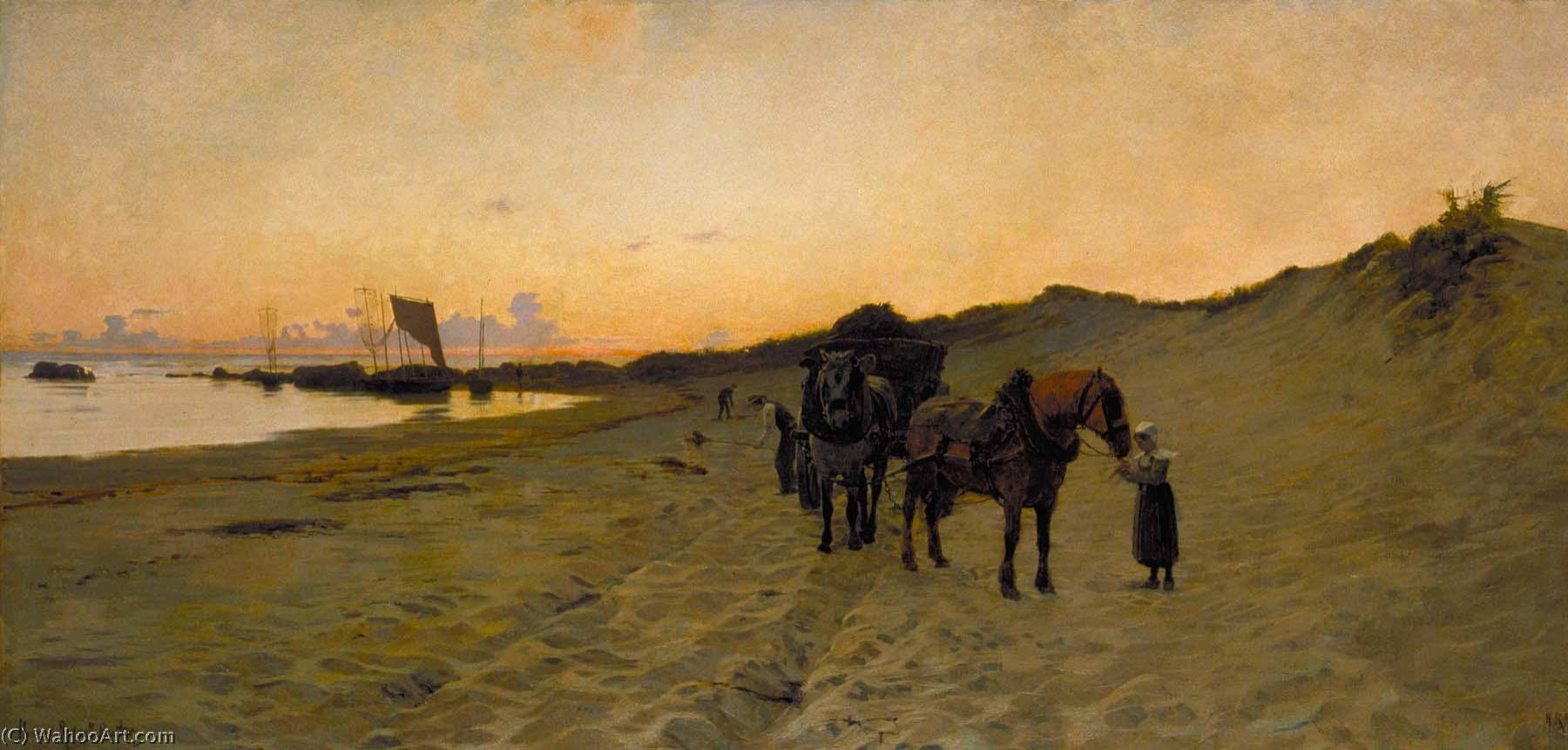 The Seaweed Gatherers, 1886 by Howard Russell Butler (1856-1934) | Art Reproduction | ArtsDot.com