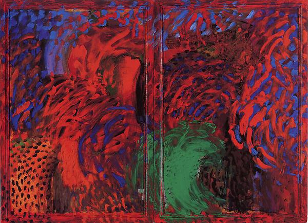 When did we go to Morocco, 1988 by Howard Hodgkin (1932-2017, United Kingdom) | Oil Painting | ArtsDot.com