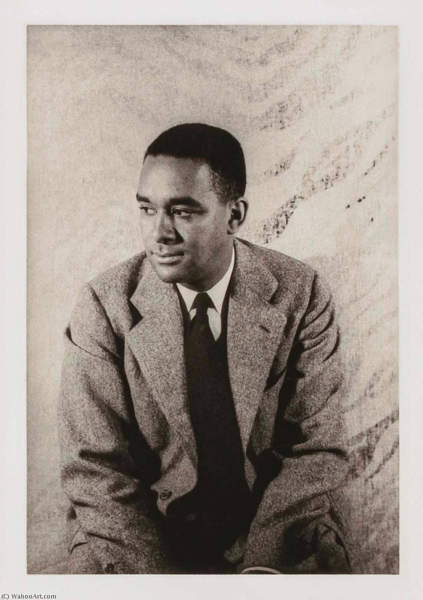Richard Wright, from the portfolio O Write My Name American Portraits, Harlem Heroes, 1983 by Carl Van Vechten (1880-1964, United States) | Oil Painting | ArtsDot.com