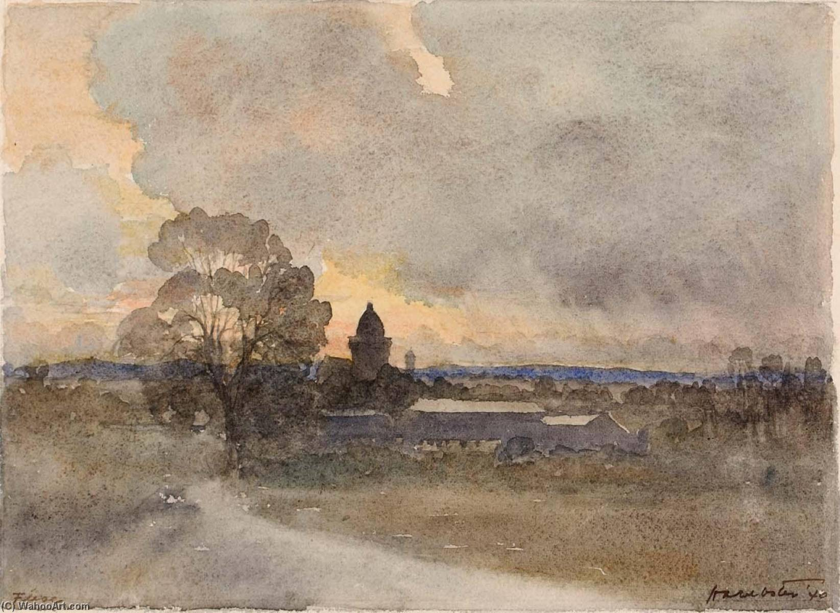 Fleac sur Seugne, 1940 by Herman Armour Webster | Museum Quality Reproductions | ArtsDot.com