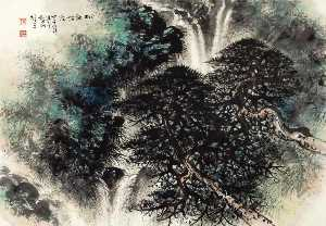 Li Xiongcai - PINE TREES BY THE SPRING