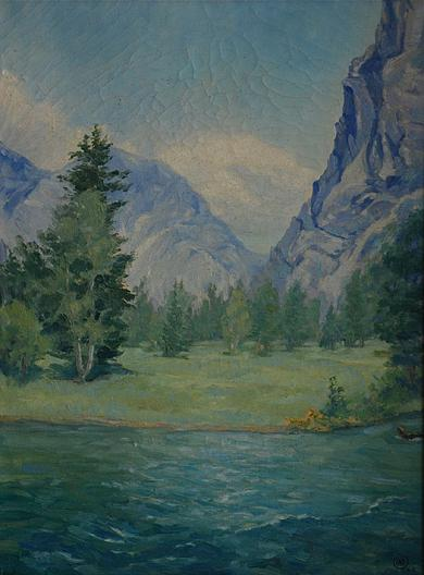 Zumwalt Meadows, (painting), 1962 by Mary Agnes Yerkes (1886-1989, United States) | Museum Art Reproductions | ArtsDot.com