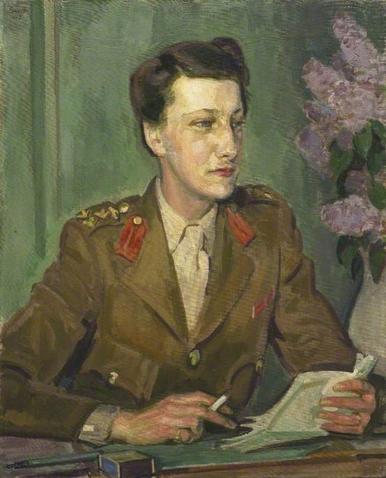 Order Art Reproduction : Chief Controller Leslie Violet Lucy Whateley, CBE, Director of Auxiliary Territorial Service, 1943 by Henry Lamb (1883-1960, Australia) | ArtsDot.com