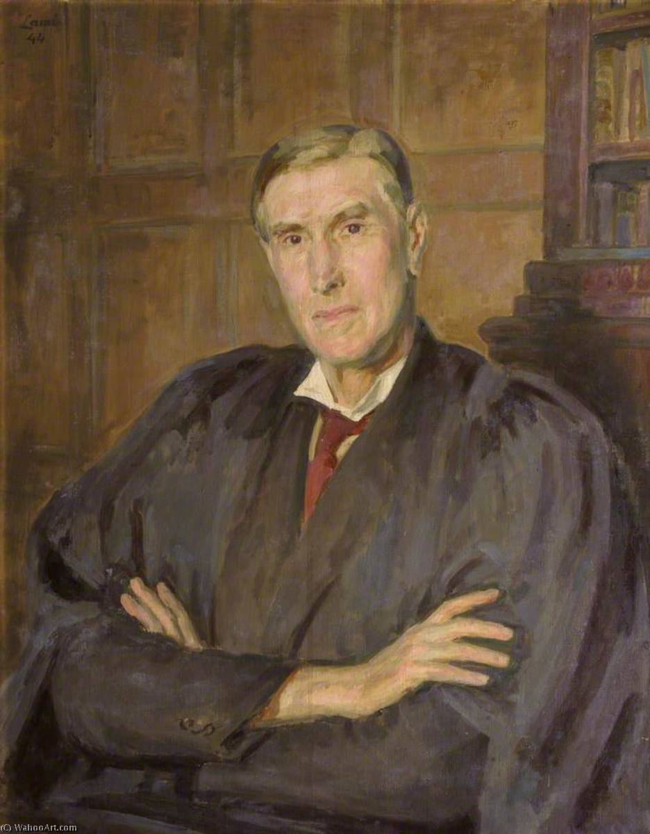 Ernest Alfred Benians (1880–1952), Fellow, Master (1933), 1944 by Henry Lamb (1883-1960, Australia) | Painting Copy | ArtsDot.com