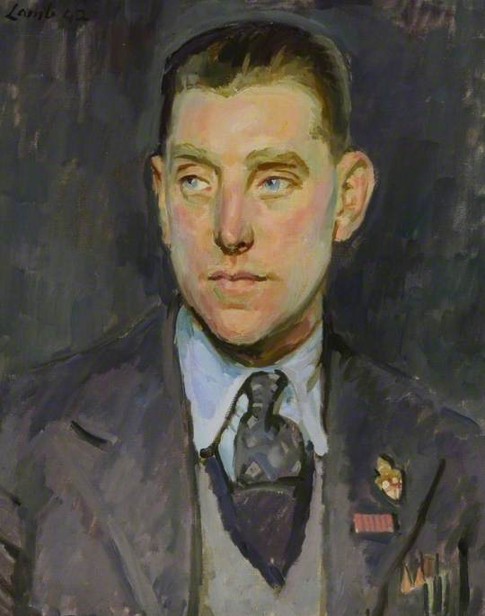 Edward Hector Bent, GM, 1942 by Henry Lamb (1883-1960, Australia) | Museum Art Reproductions | ArtsDot.com