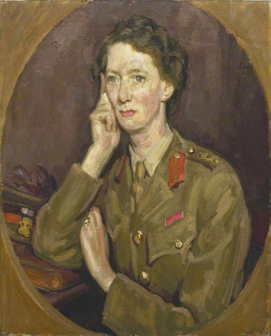 Senior Controller Christian Helen Fraser Tytler, CBE, Deputy Director of Anti Aircraft Command, Auxiliary Territorial Service, 1943 by Henry Lamb (1883-1960, Australia) | Art Reproduction | ArtsDot.com