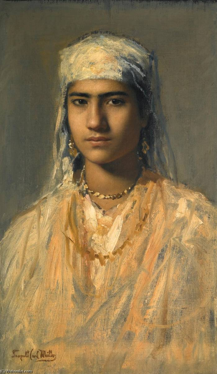 An Egyptian Girl by Leopold Carl Müller (1834-1892) | Museum Quality Reproductions | ArtsDot.com