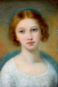 Pierre Joseph Dedreux Dor.. - Head of a Young Girl
