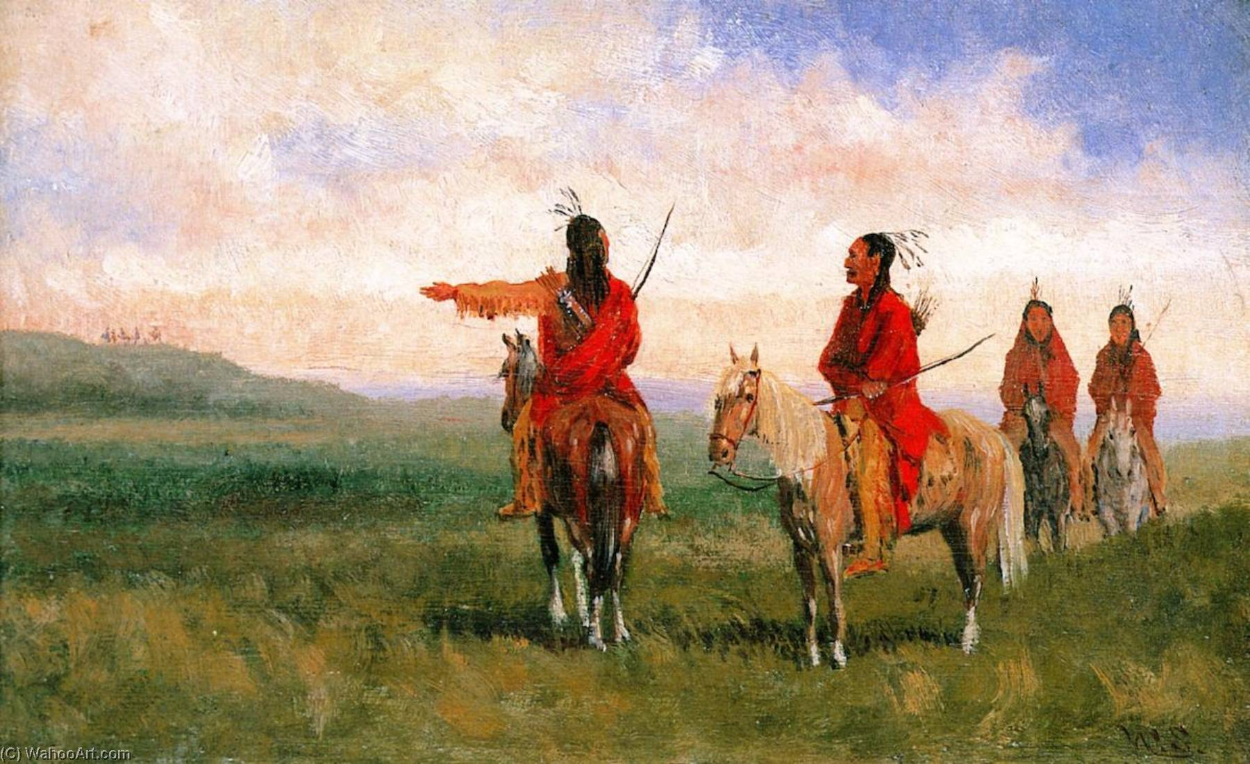 Indians, 1875 by Walter Shirlaw | Oil Painting | ArtsDot.com