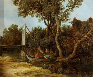 Jan Van Goyen - Landscape with a Stream