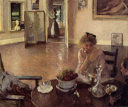 The Breakfast Room, (painting), 1903 by Edmund Charles Tarbell (1862-1938, United States) | Museum Art Reproductions | ArtsDot.com