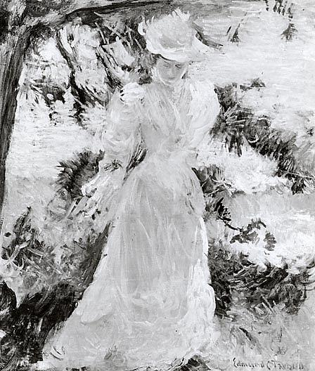 Mrs. Tarbell in the Garden, (painting) by Edmund Charles Tarbell (1862-1938, United States) | Oil Painting | ArtsDot.com