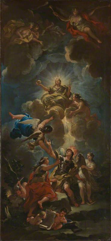 Allegory of Divine Wisdom, 1680 by Luca Giordano (1634-1705, Italy) | Art Reproduction | ArtsDot.com