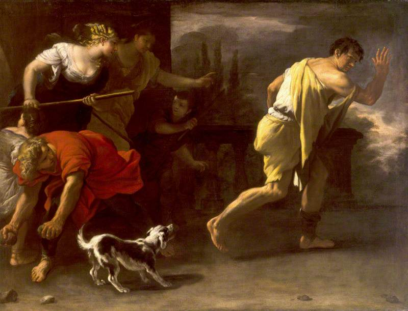 The Parable of the Prodigal Son Driven out by His Former Companions, 1680 by Luca Giordano (1634-1705, Italy) | Museum Quality Reproductions | ArtsDot.com