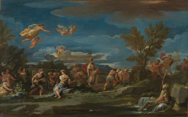 Mythological Scene of Agriculture, 1680 by Luca Giordano (1634-1705, Italy) | Museum Art Reproductions | ArtsDot.com