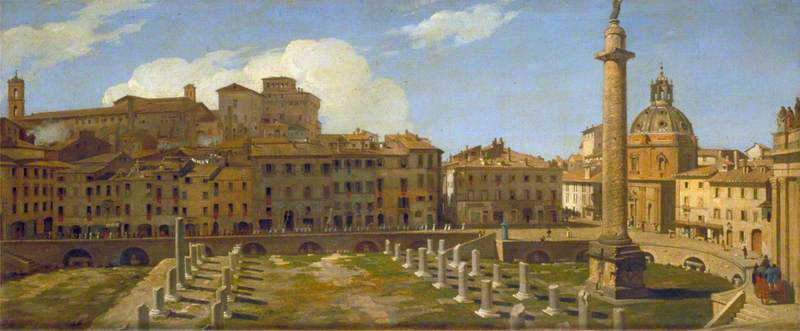 The Trajan Forum, Rome, 1821 by Charles Lock Eastlake (1793-1865) | Museum Art Reproductions | ArtsDot.com