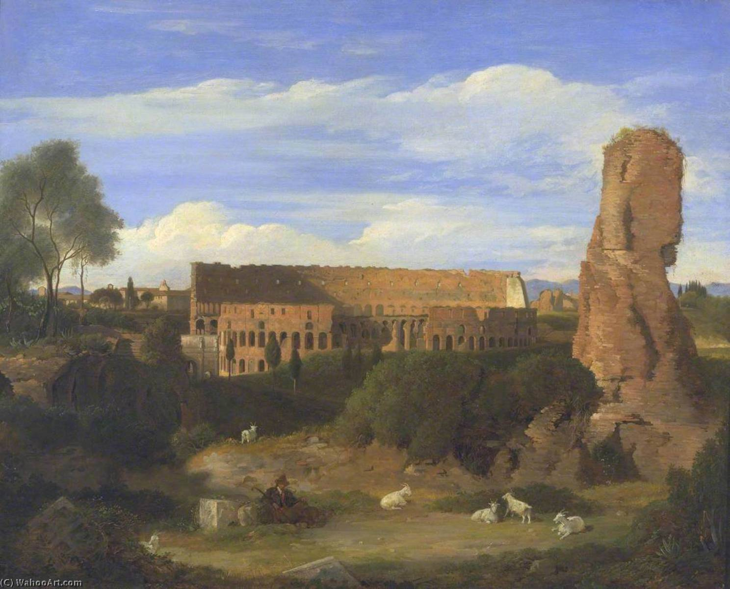 The Colosseum from the Campo Vaccino, 1822 by Charles Lock Eastlake (1793-1865) | Museum Art Reproductions | ArtsDot.com