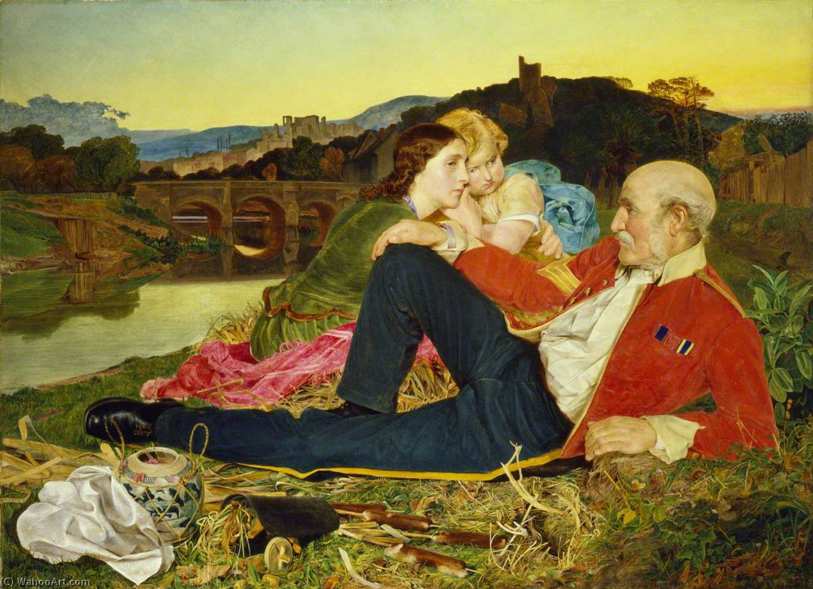 Order Oil Painting : Autumn, 1860 by Anthony Frederick Augustus Sandys (1829-1904, United Kingdom) | ArtsDot.com