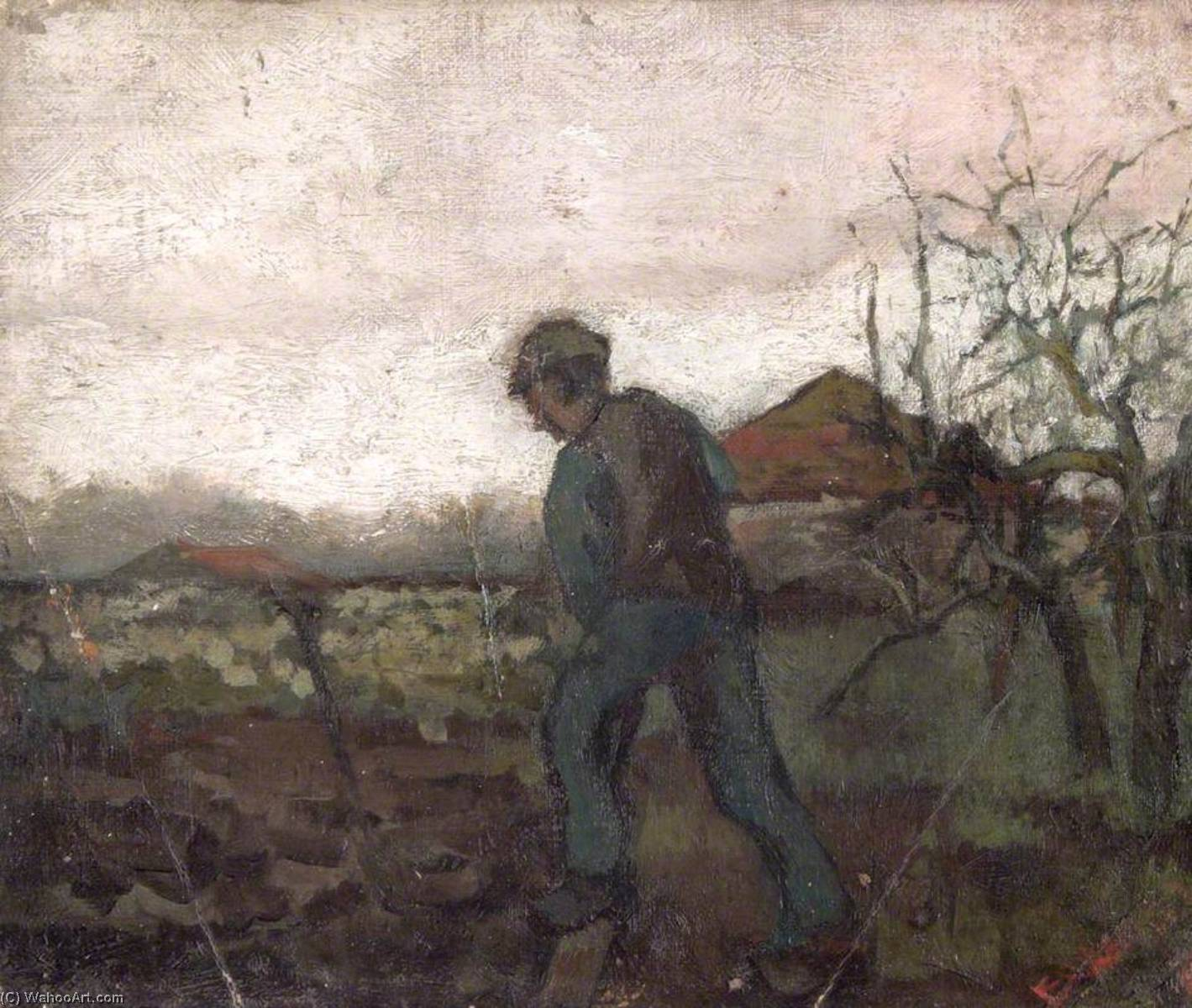 Digging, 1883 by Frank William Brangwyn (1867-1956, Belgium) | Painting Copy | ArtsDot.com