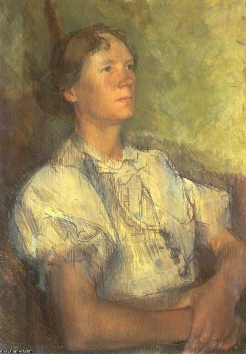Order Oil Painting : Winifred Burger, 1937 by William Menzies Coldstream (1908-1987, United Kingdom) | ArtsDot.com