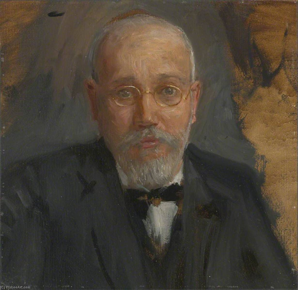 Eleutherios Venizelos (1864–1936), Greek Premier (preparatory study for `Terms of Armistice, 3rd and 4th November 1918`), 1918 by Herbert Arnould Olivier | Art Reproduction | ArtsDot.com
