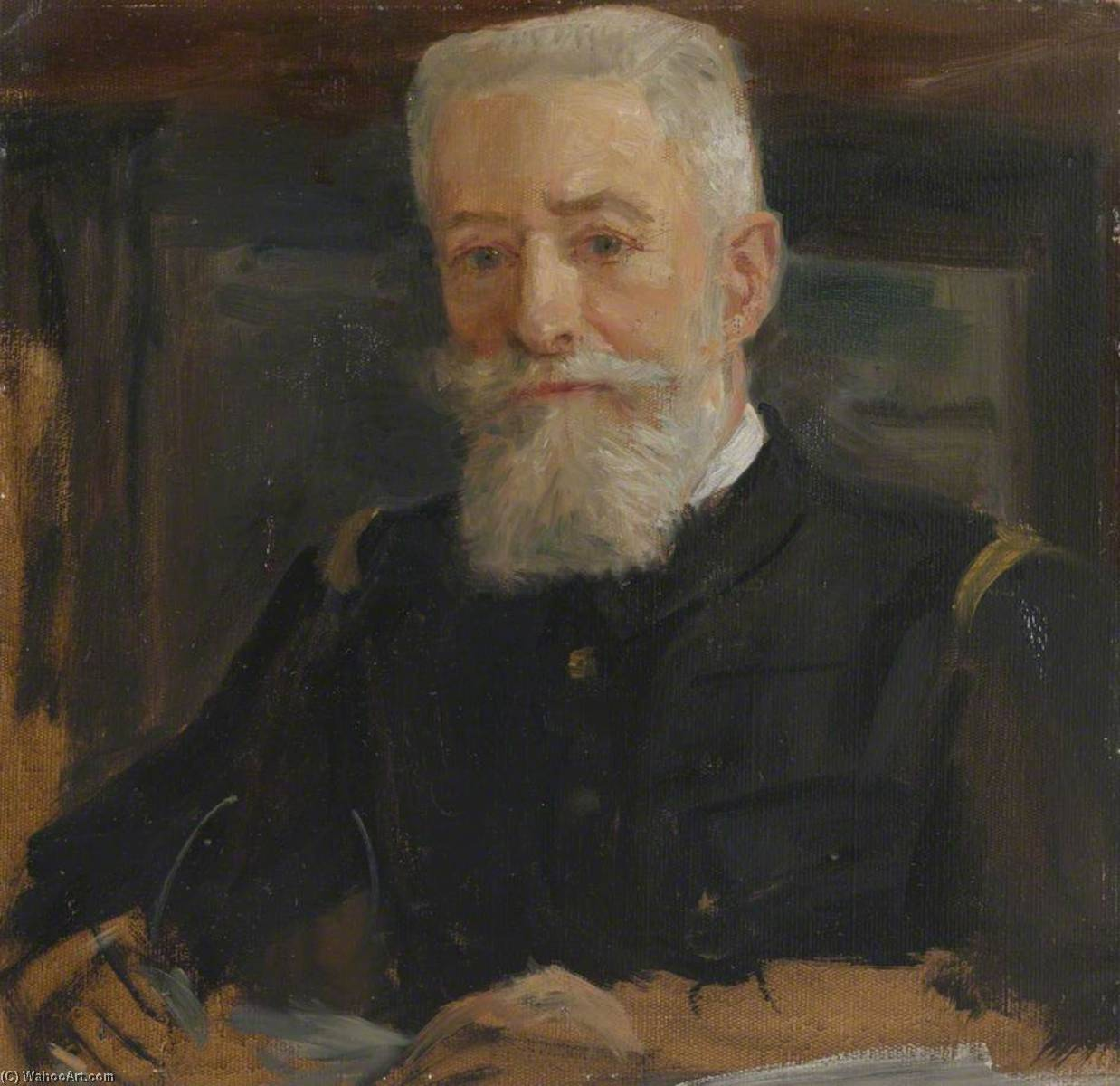 Admiral Ferdinand de Bon (1861–1923), Chief of French Naval Staff (preparatory study for `The Supreme War Council in Session at Versailles on 3rd July 1918`), 1918 by Herbert Arnould Olivier | Museum Quality Reproductions | ArtsDot.com