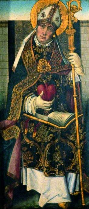 St Ambrose (verso), 1470 by Master Of The View Of Saint Gudule | Oil Painting | ArtsDot.com