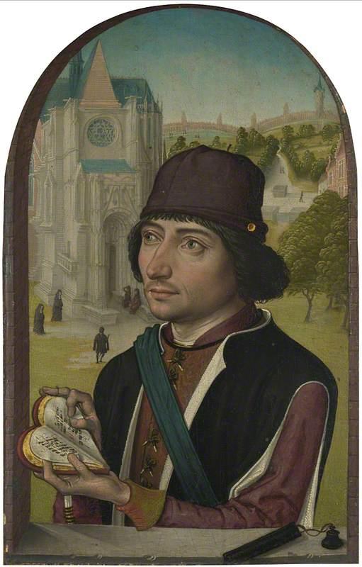 Portrait of a Young Man, 1480 by Master Of The View Of Saint Gudule | Museum Quality Reproductions | ArtsDot.com