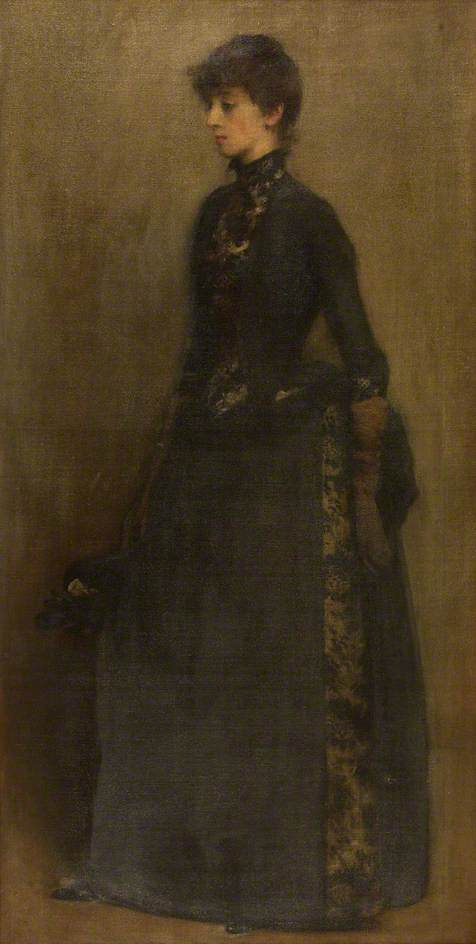 Lady in Grey Mrs Montgomery by Philip Wilson Steer (1860-1942, United Kingdom) | Art Reproduction | ArtsDot.com