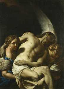 Francesco Trevisani - Christ Supported by Angel..