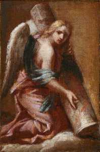 Francesco Trevisani - An Angel Holding the Colu..