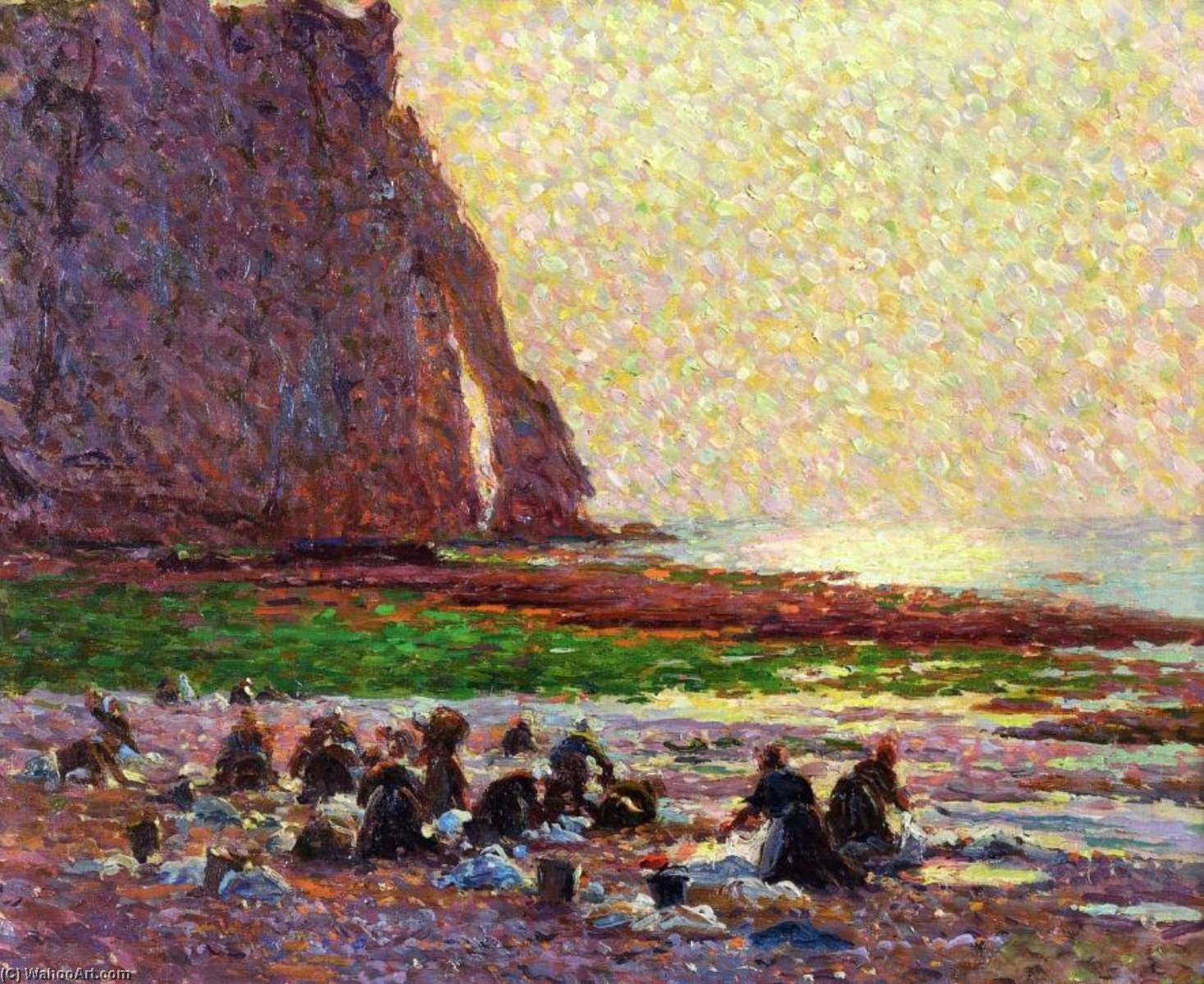 Laundresses by the Sea at Etretat, 1887 by Claude Emil Schuffenecker (1851-1934) | Painting Copy | ArtsDot.com