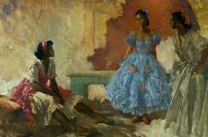 William Russell Flint - Negro Dancers – Victoria, Ora and Serafina