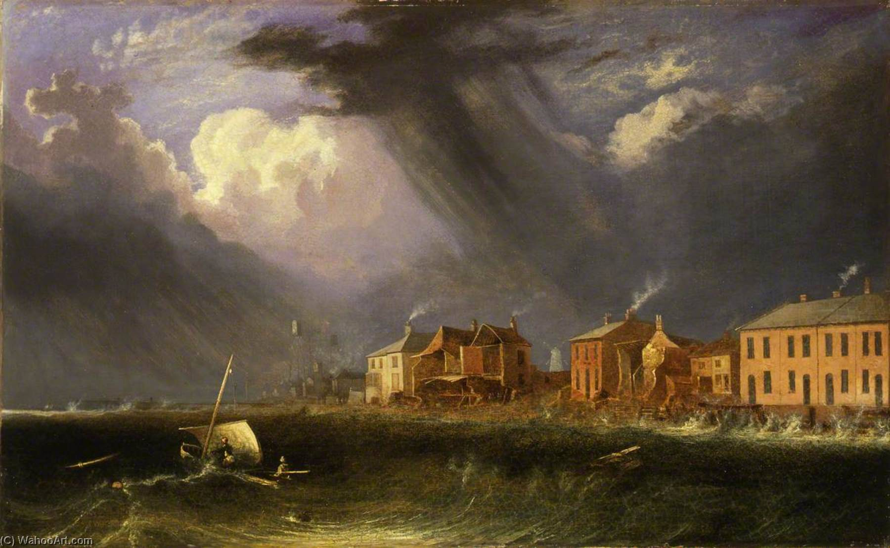 Great Gale at Yarmouth on Ash Wednesday, 1836 by John Berney Crome (1768-1821) | Museum Quality Reproductions | ArtsDot.com