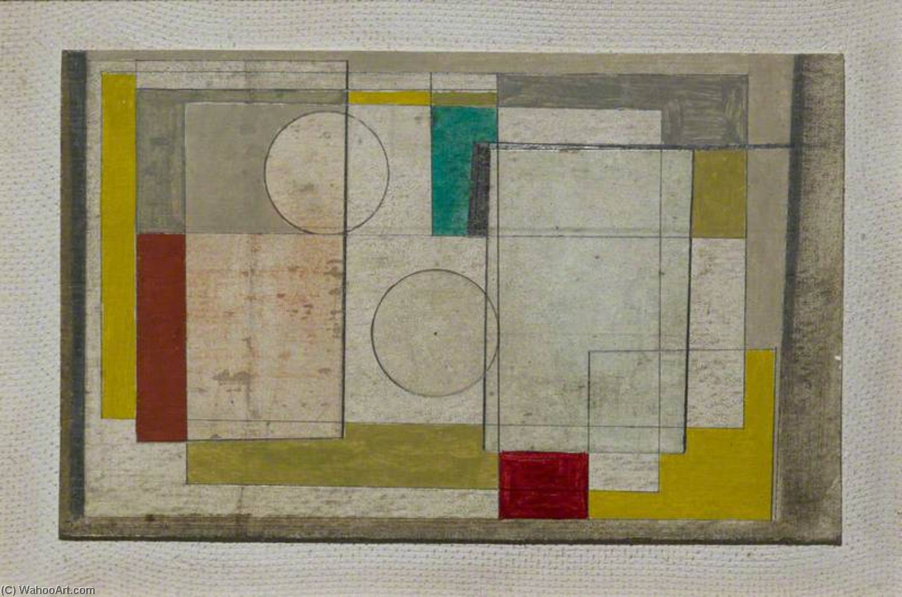 1945 (painting), 1945 by Ben Nicholson (1894-1982, United Kingdom) | Oil Painting | ArtsDot.com