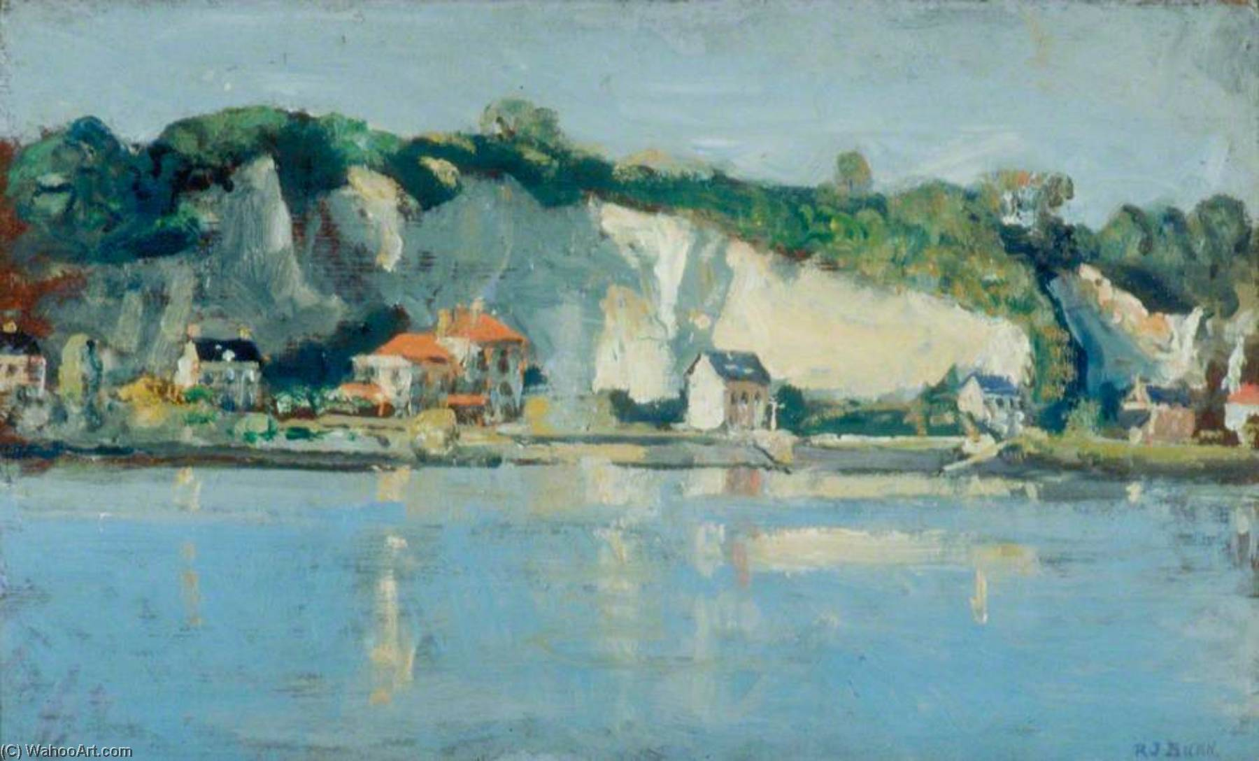 Duclair, Normandy by Rodney Joseph Burn (1899-1984, United Kingdom) | Museum Quality Reproductions | ArtsDot.com