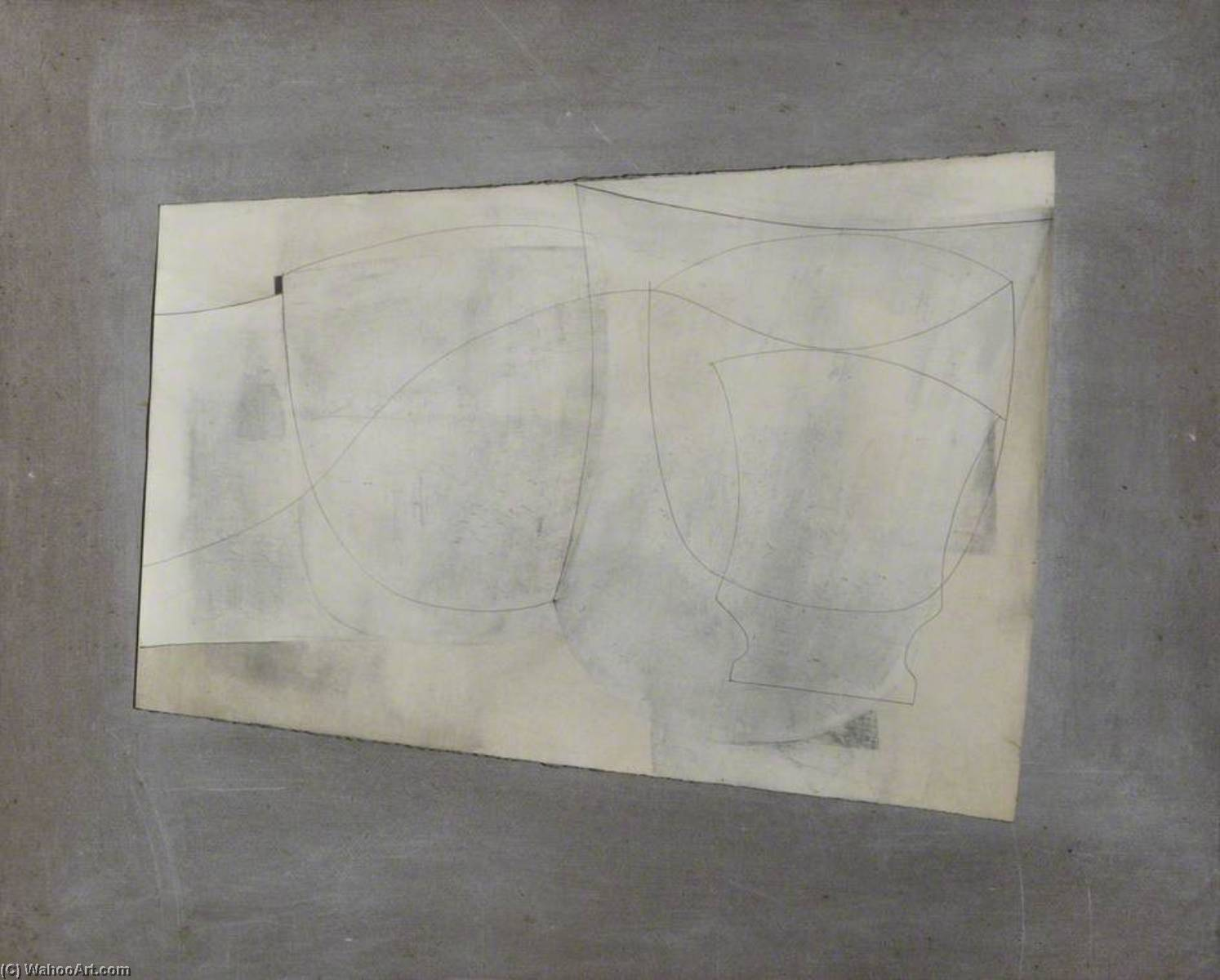 date unknown (ivory still life) by Ben Nicholson (1894-1982, United Kingdom) | Oil Painting | ArtsDot.com