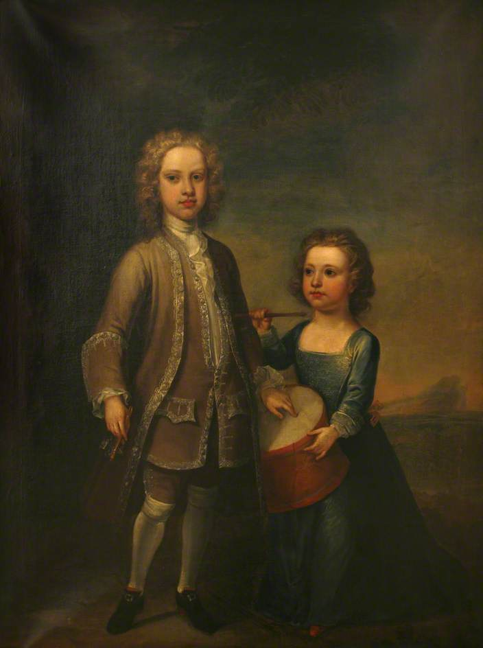George, 1st Earl of Mount Edgcumbe (1720–1795) and Richard, 2nd Baron (1716–1761), 1725 by Jonathan Richardson The Elder (1667-1745) | Museum Quality Reproductions | ArtsDot.com
