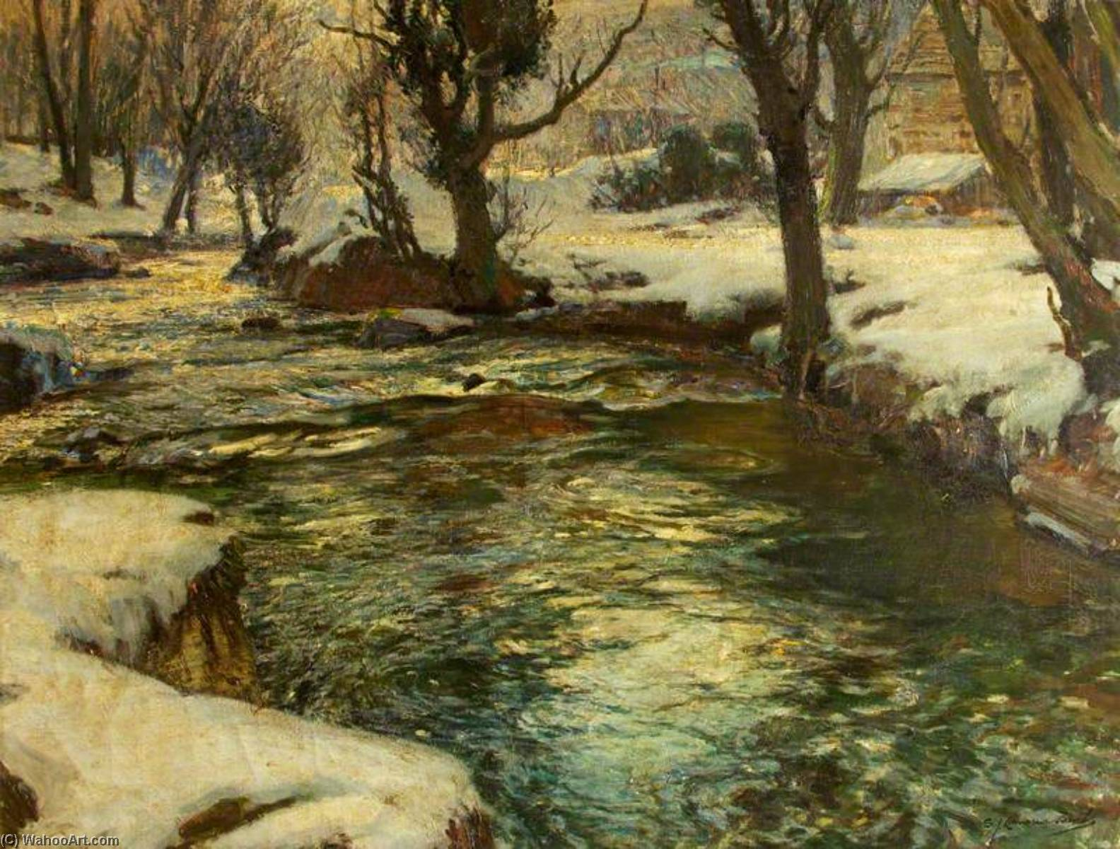 Winter in the West by Samuel John Lamorna Birch (1869-1955, United Kingdom) | Museum Quality Reproductions | ArtsDot.com