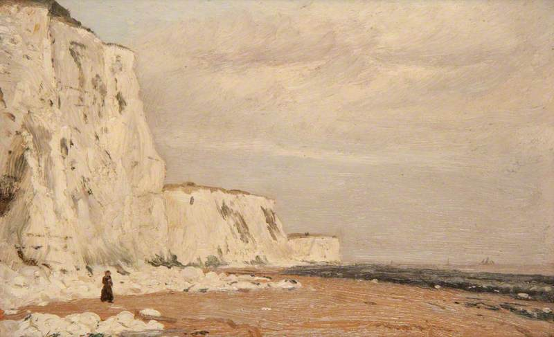 On the Ramsgate Sands, 1884 by Ernest Gustave Girardot | Art Reproduction | ArtsDot.com