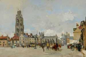 James Kerr Lawson - View of the Market Place,..