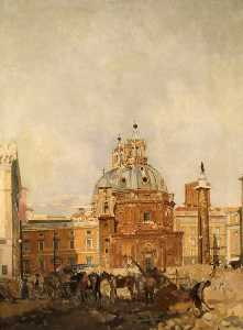 James Kerr Lawson - The Forum with Trajan's C..