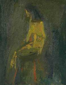 Cliff Holden - Yellow Seated Figure