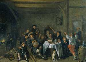 Jan Miense Molenaer - A Family Merrymaking